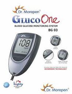 Picture of Dr Morepen Blood Glucose Monitor BG03 Dr Morepen With 1 Box Of 25 Strips