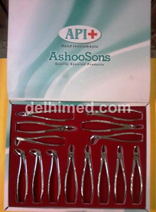 Picture of API FORCEPS SET OF 14 (1,4,7,13,17,18,22,51,67,74,79,86,89,90) Steel Finish PREMIUM
