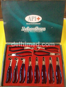 Picture of API FORCEPS SET OF 12 (1,7,13,17,18,73,51A,67A,74N,86,89,90) T.C. BLUE PREMIUM