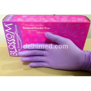 Picture of Blossom Nitrile Examination Gloves Powder Free Purple Small