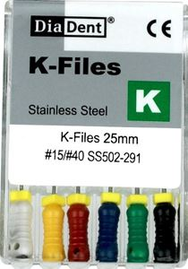 Picture of Diadent K Files 10 No 25mm