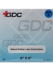"""Picture of GDC RUBBER DAM SHEETS ADULT RDLA 6""""x6"""""""